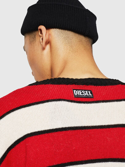 Diesel - K-LOVERY, Rosso/Bianco - Maglieria - Image 6