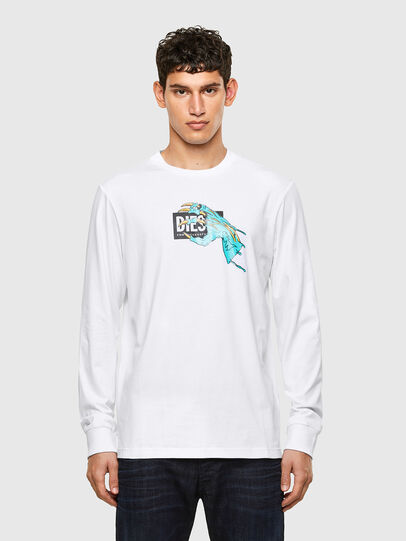 Diesel - T-JUST-LS-A1, Bianco - T-Shirts - Image 1