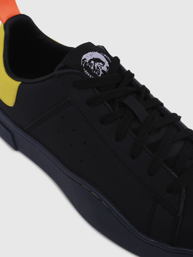 Diesel - S-CLEVER LOW, Nero/Giallo - Sneakers - Image 4