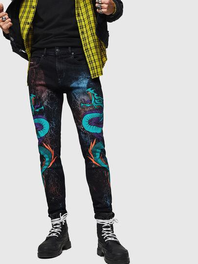Diesel - D-Strukt 0093E, Nero/Grigio scuro - Jeans - Image 1