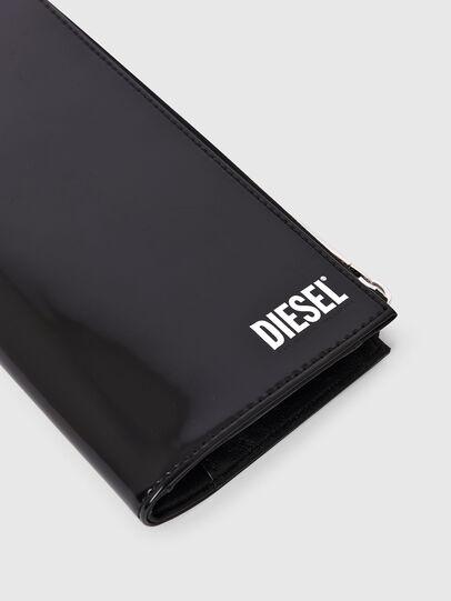 Diesel - L-24 ZIP, Nero - Portafogli Con Zip - Image 4