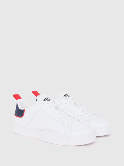 Diesel - S-CLEVER LOW LACE, Bianco/Rosso - Sneakers - Image 2