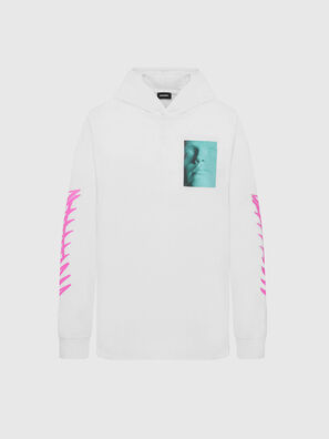 T-JUST-LS-HOOD-X30, Bianco - T-Shirts