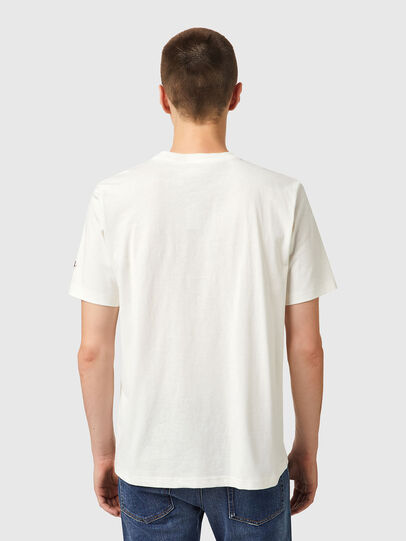 Diesel - T-JUST-B67, Bianco - T-Shirts - Image 2