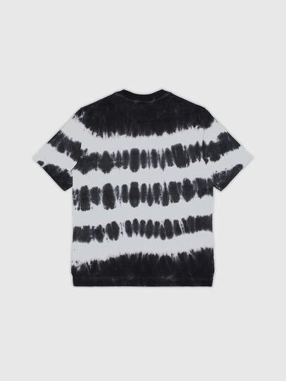 Diesel - TJUSTA38 OVER, Nero/Bianco - T-shirts e Tops - Image 2