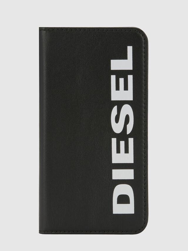 Diesel - SLIM LEATHER FOLIO IPHONE X, Nero - Cover a libro - Image 5