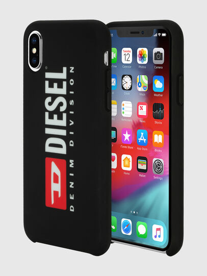Diesel - DIESEL PRINTED CO-MOLD CASE FOR IPHONE XS & IPHONE X, Nero/Bianco - Cover - Image 1