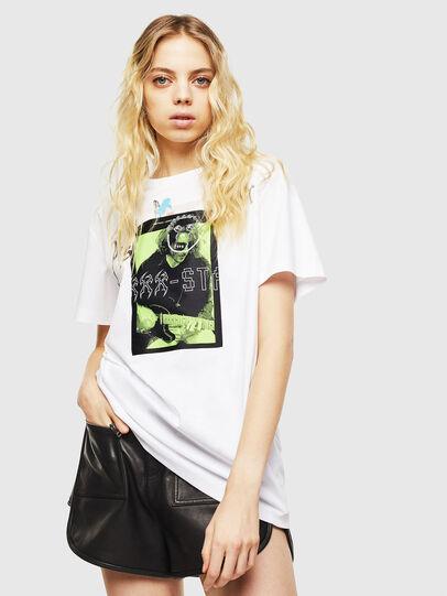 Diesel - T-DARIA-Y, Bianco - T-Shirts - Image 1