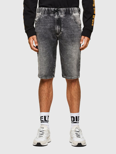 Diesel - D-KROOSHORT JOGGJEANS, Nero - Shorts - Image 1