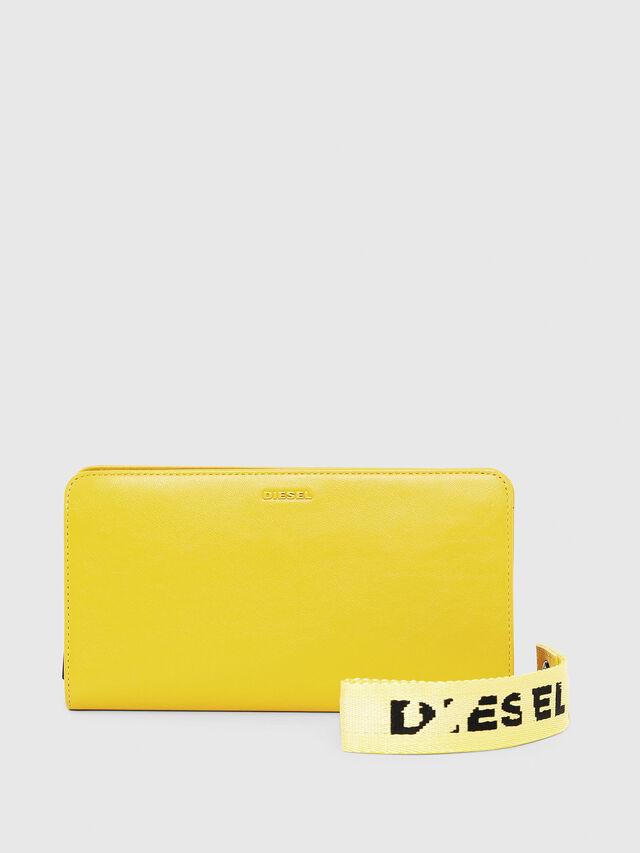 Diesel - NEW GRANATO LOOP, Giallo - Portafogli Con Zip - Image 1