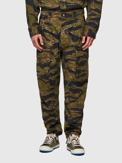 Diesel - P-BARTON, Verde Militare - Pantaloni - Image 1