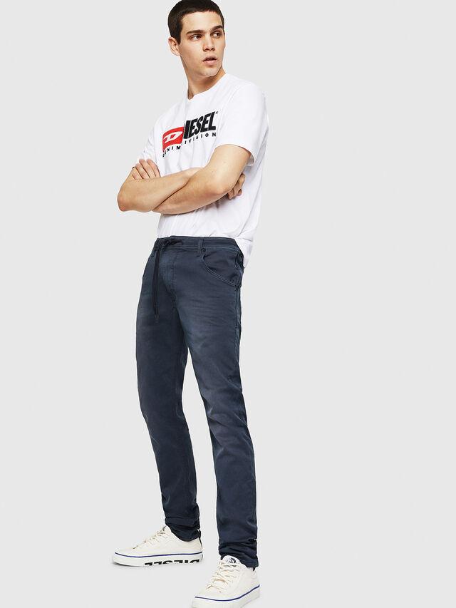 Diesel - Krooley Long JoggJeans 0670M, Blu Scuro - Jeans - Image 4