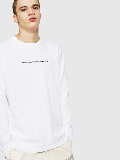 Diesel - T-JUST-LS-COPY, Bianco - T-Shirts - Image 4