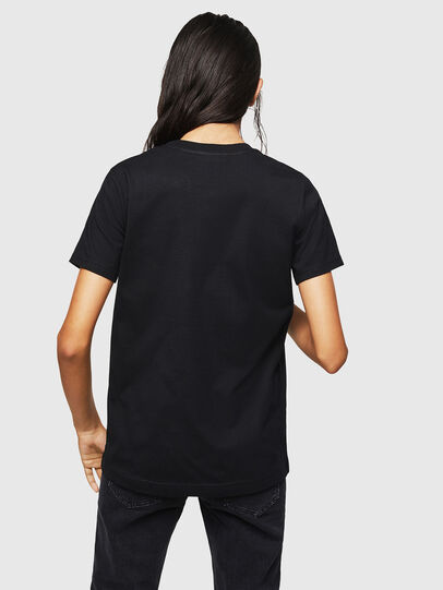Diesel - T-SILY-ZF, Nero - T-Shirts - Image 2