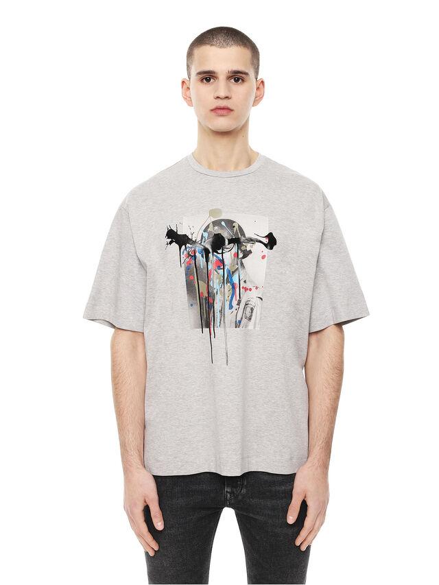 Diesel - TEORIA-MELTINGSOLDIE, Grigio - T-Shirts - Image 1