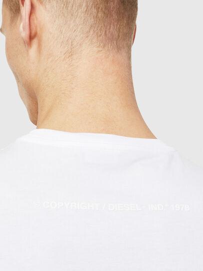 Diesel - T-JUST-T25, Bianco - T-Shirts - Image 4