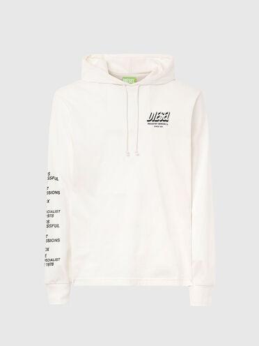 T-shirt con cappuccio Green Label con stampa
