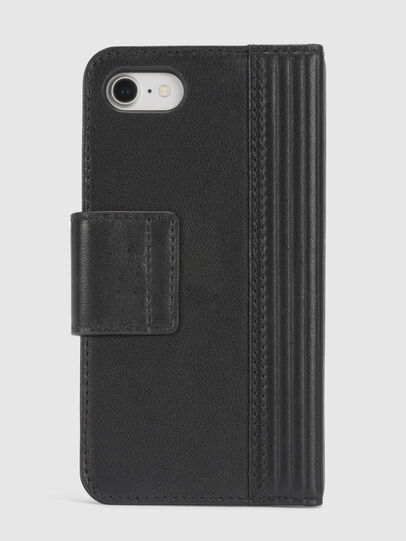 Diesel - BLACK LINED LEATHER IPHONE 8/7 FOLIO, Nero - Cover a libro - Image 4