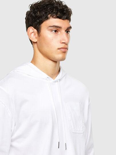 Diesel - T-FONTAL-LS-HOOD, Bianco - T-Shirts - Image 3