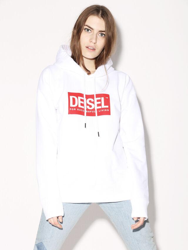Diesel - DEIS-SHOOD, Bianco - Felpe - Image 3
