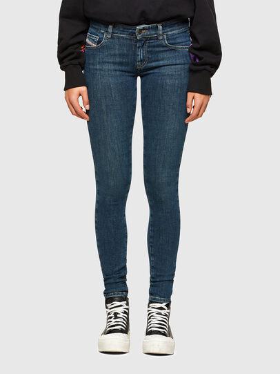 Diesel - Slandy Low 069TR, Blu Scuro - Jeans - Image 1