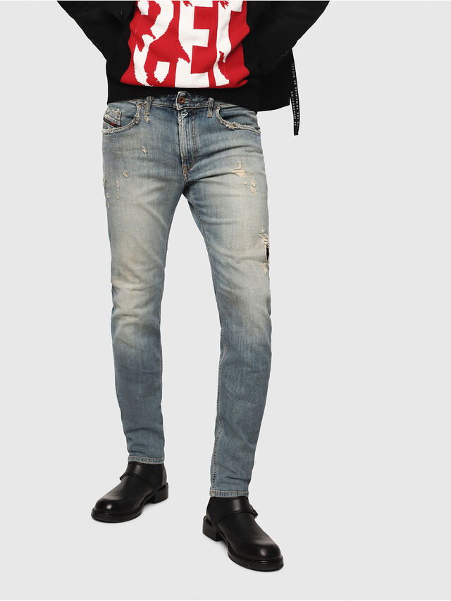 Diesel - Thommer 081AU, Blu medio - Jeans - Image 1
