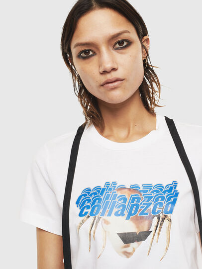 Diesel - T-SILY-S3, Bianco - T-Shirts - Image 3