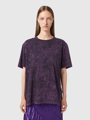 T-shirt effetto marmorizzato