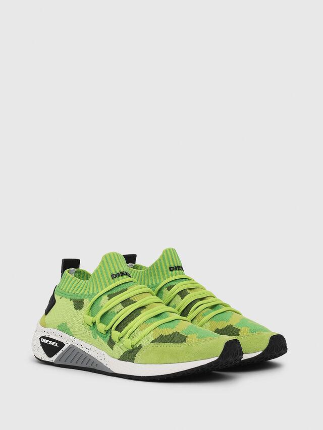 Diesel - S-KB SL W, Verde Fluo - Sneakers - Image 2