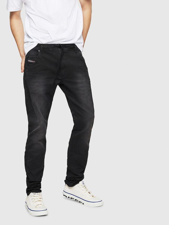 Diesel - Krooley Long JoggJeans 0670M, Nero - Jeans - Image 1