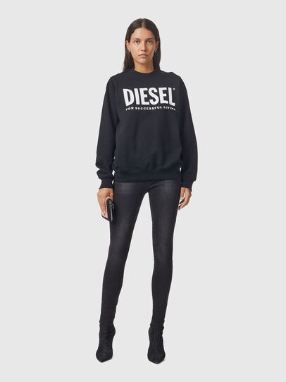 Diesel - F-ANG, Nero/Bianco - Felpe - Image 4