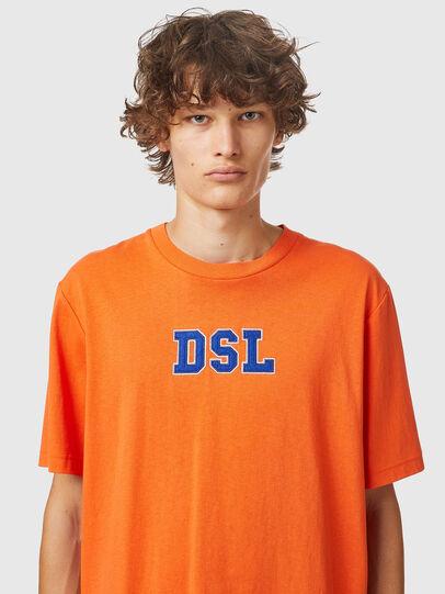 Diesel - T-JUST-B85, Arancione - T-Shirts - Image 3