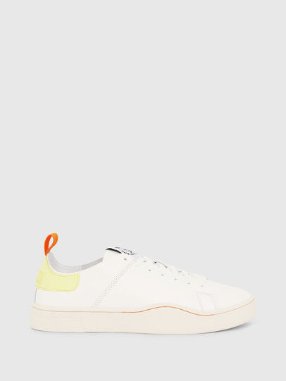 Diesel - S-CLEVER LS W, Bianco/Giallo - Sneakers - Image 1