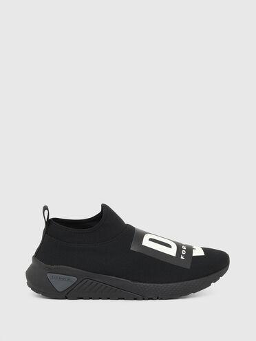 Sneaker senza lacci con logo ripiegato