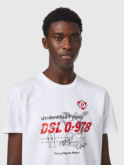 Diesel - T-DIEGOS-B82, Bianco - T-Shirts - Image 3