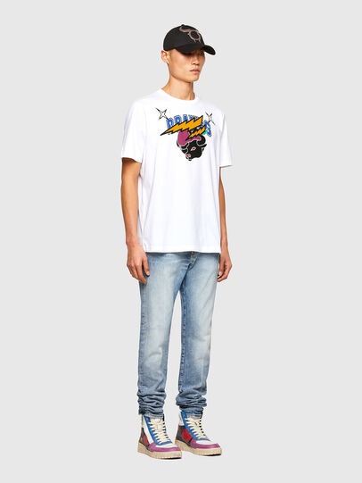 Diesel - CL-T-JUST-O1, Bianco - T-Shirts - Image 7