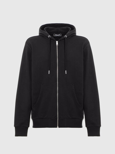 Zip-up hoodie with Copyright embroidery