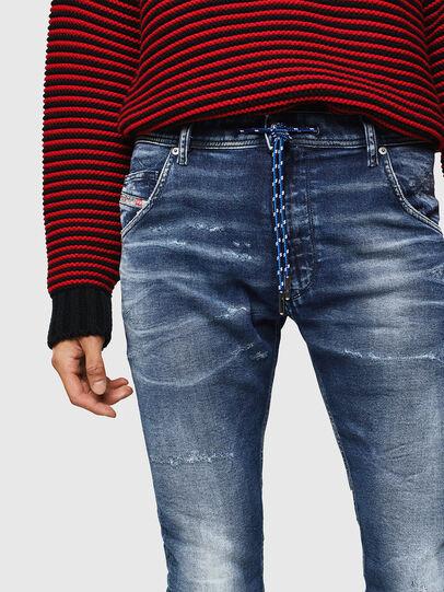 Diesel - Krooley JoggJeans 0096M, Blu Scuro - Jeans - Image 3