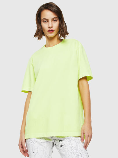 Diesel - T-JUST-SLITS-FLUO, Giallo Fluo - T-Shirts - Image 2