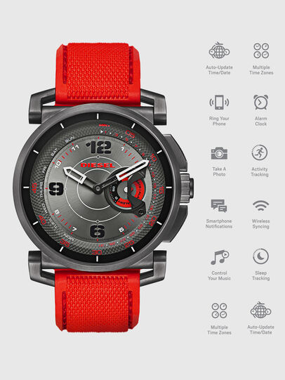Diesel - DT1005, Rosso - Smartwatches - Image 1