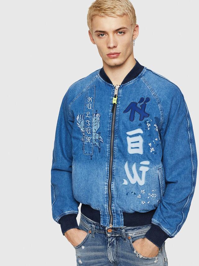 Diesel - D-BAK, Blu Jeans - Giacche in denim - Image 1