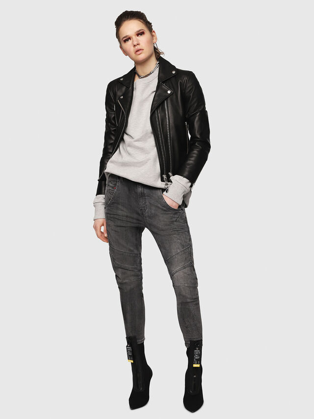 Diesel - Fayza JoggJeans 8880U, Nero/Grigio scuro - Jeans - Image 5