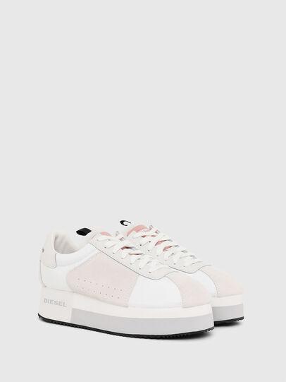 Diesel - S-PYAVE WEDGE, Bianco/Rosa - Sneakers - Image 2