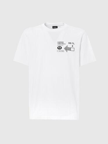 T-shirt con stampe grafiche dei loghi