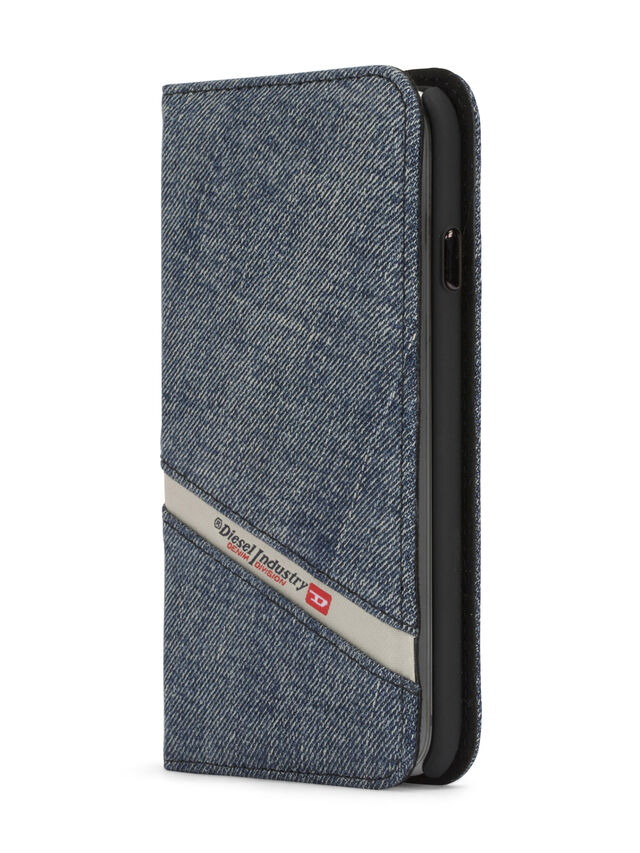 Diesel - DENIM IPHONE 8/7 FOLIO, Blu Jeans - Cover a libro - Image 3