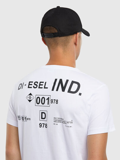 Diesel - T-DIEGOS-N21, Bianco - T-Shirts - Image 4