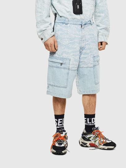 Diesel - D-LUK-SHORT, Blu Chiaro - Shorts - Image 1