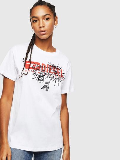 Diesel - T-DARIA-YC, Bianco - T-Shirts - Image 1