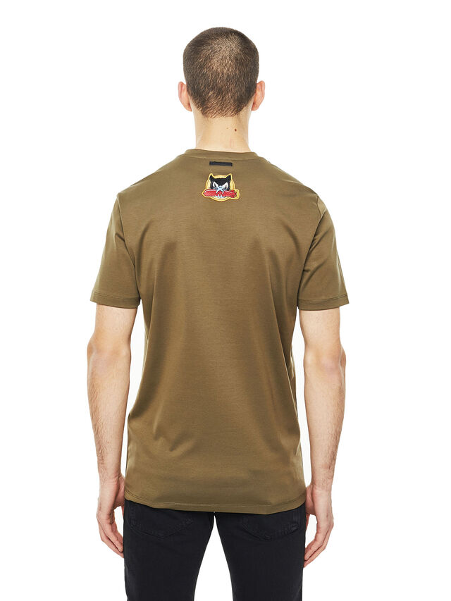 Diesel - TY-PATCHES, Verde Militare - T-Shirts - Image 2