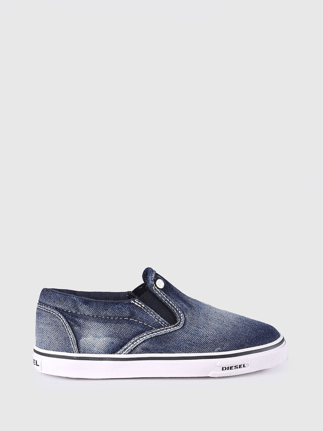 Diesel - SLIP ON 21 DENIM CH, Blu Jeans - Scarpe - Image 1